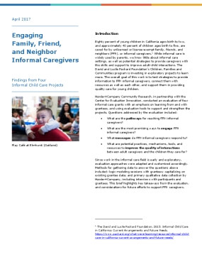 Engaging Family, Friend, and Neighbor Informal Caregivers