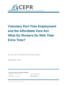 Voluntary Part-Time Employment and the Affordable Care Act:  What Do Workers Do With Their Extra Time?