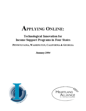 Applying Online: Technological Innovation for Income Support Programs in Four States