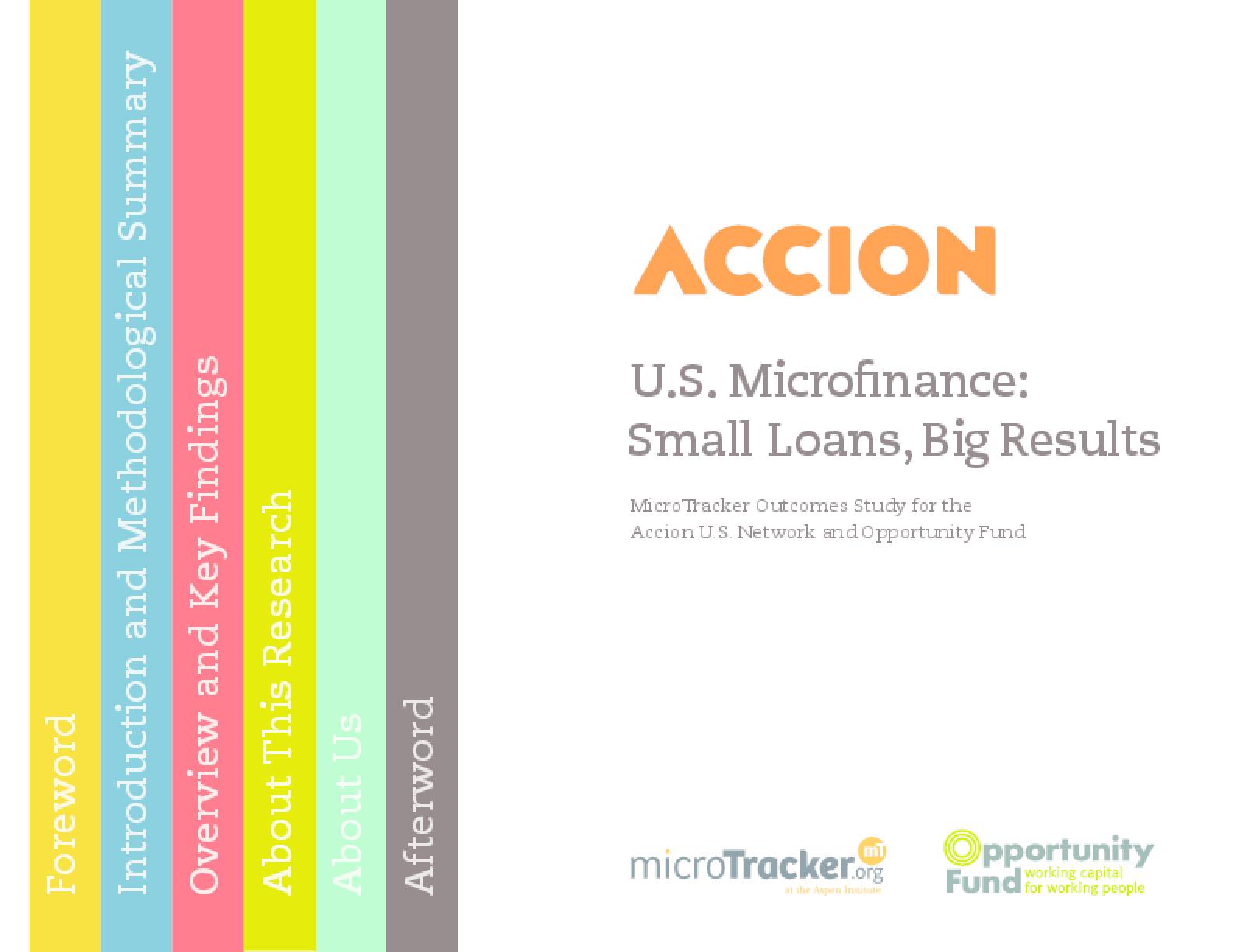 U.S. Microfinance: Small Loans, Big Results