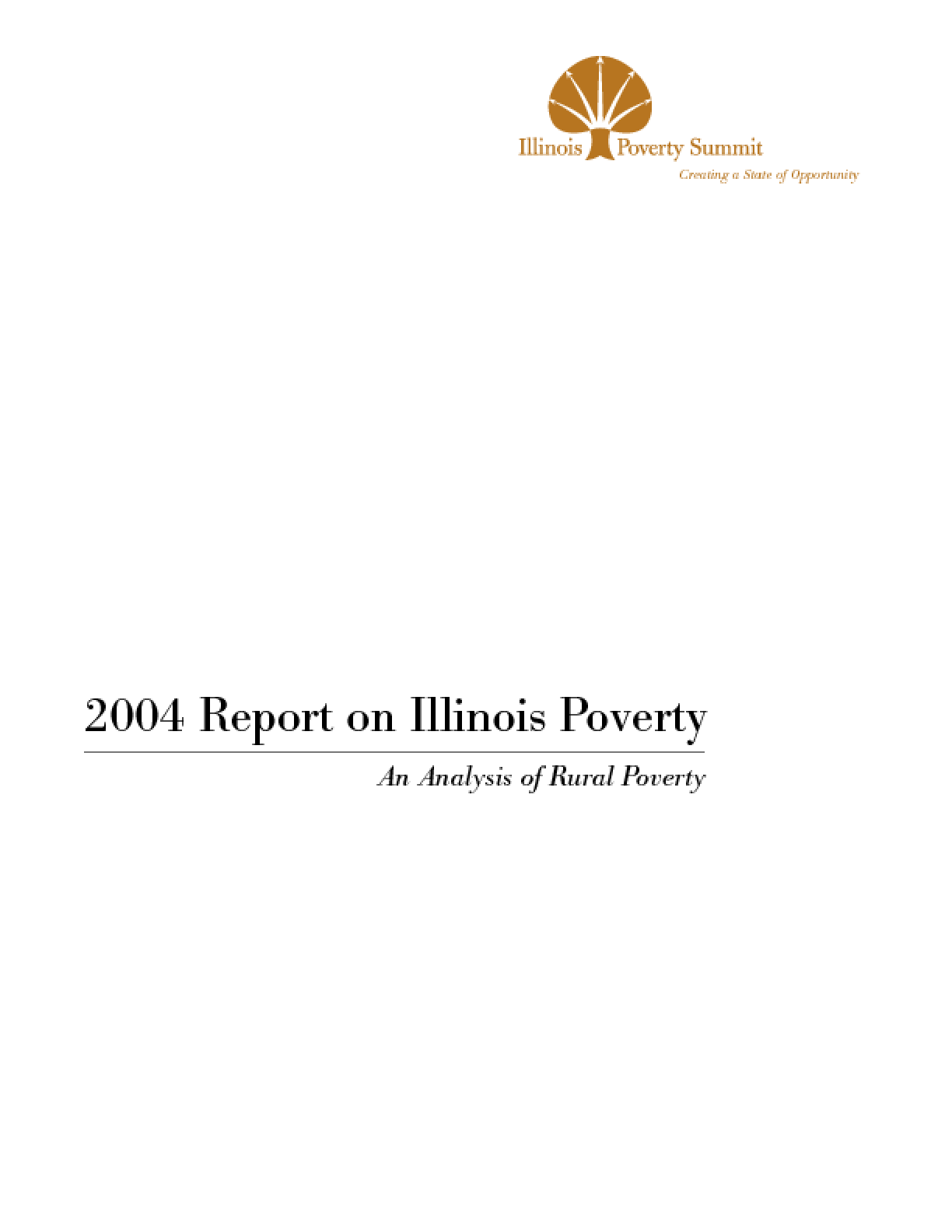 2004 Report on Illinois Poverty: An Analysis of Rural Poverty