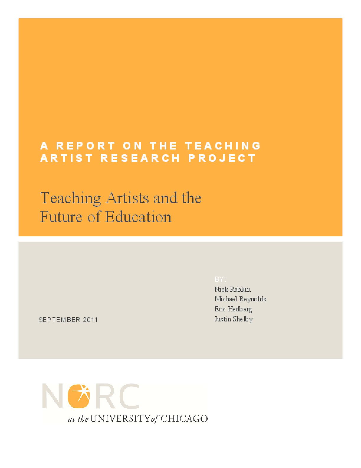Teaching Artists Research Project