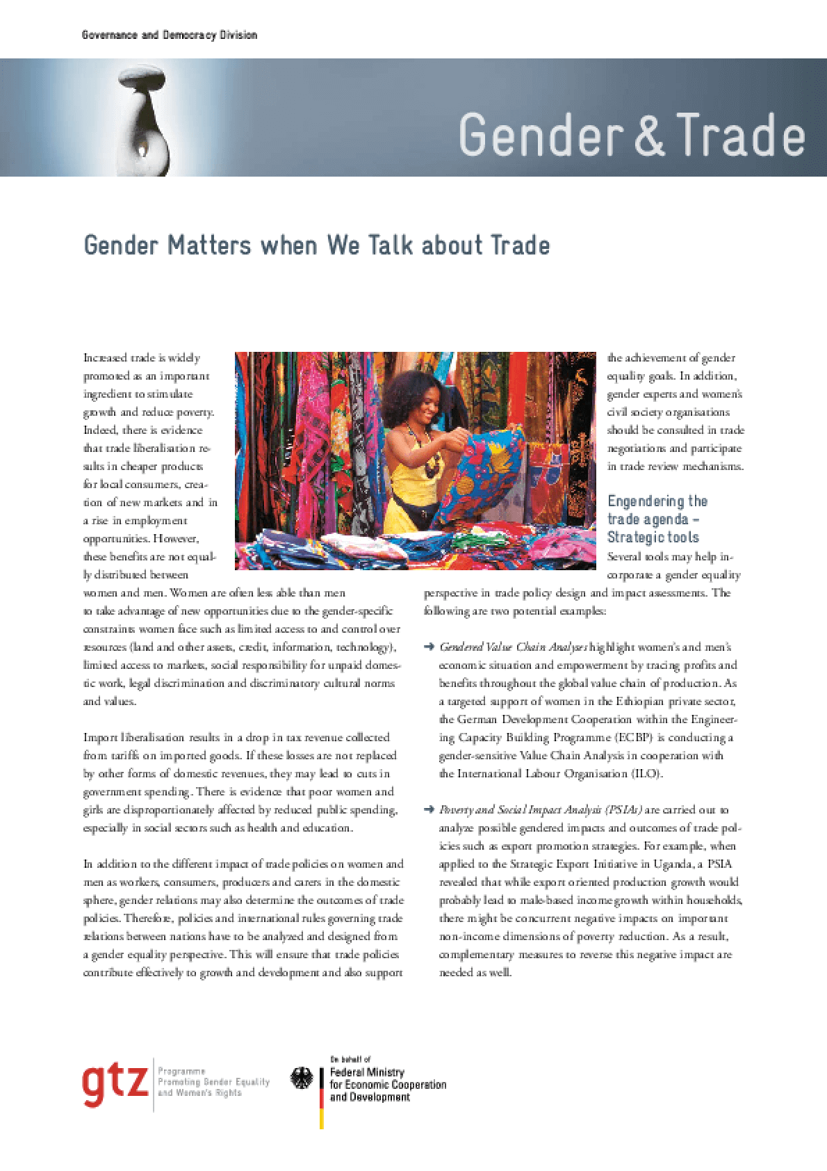 Gender Matters When We Talk about Trade