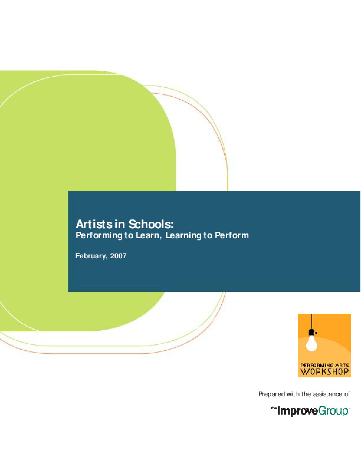 Performing Arts Workshop 2003 AEMDD Evaluation Final Report