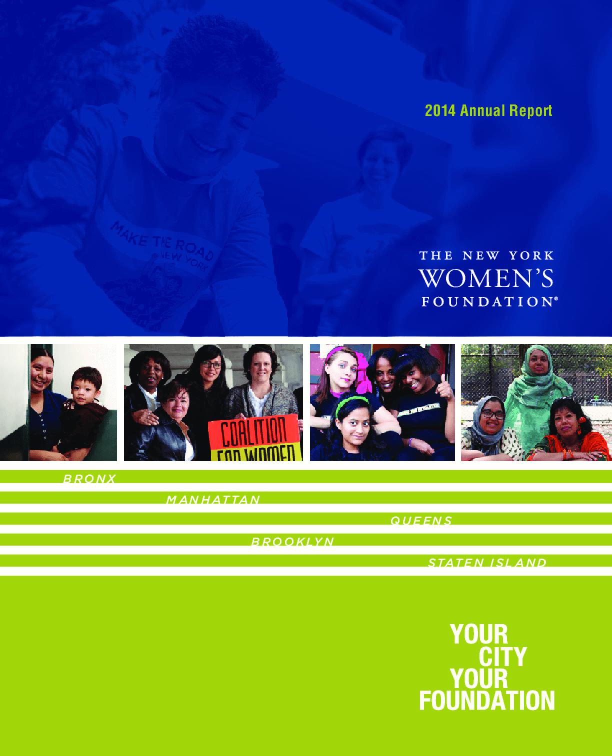New York Women's Foundation, 2014 Annual report