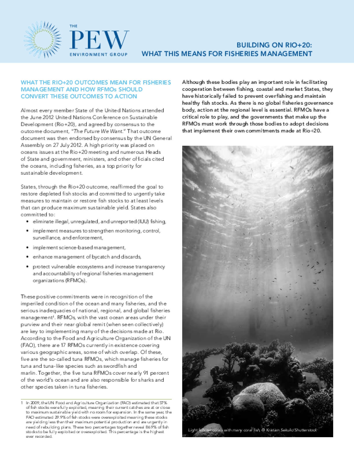 Building on Rio+20: What This Means for Fisheries Management