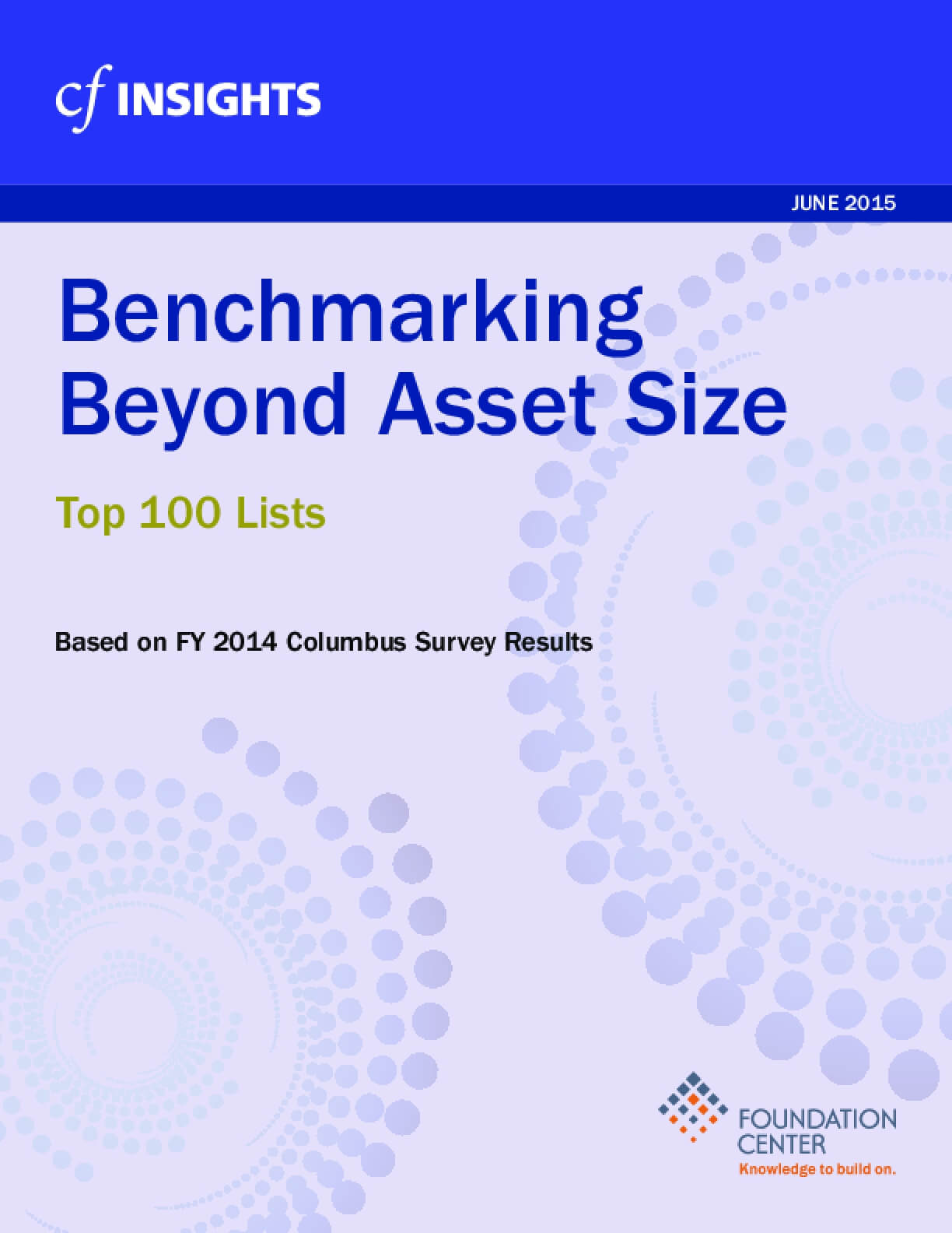Benchmarking Beyond Asset Size Top 100 Lists - FY 2014