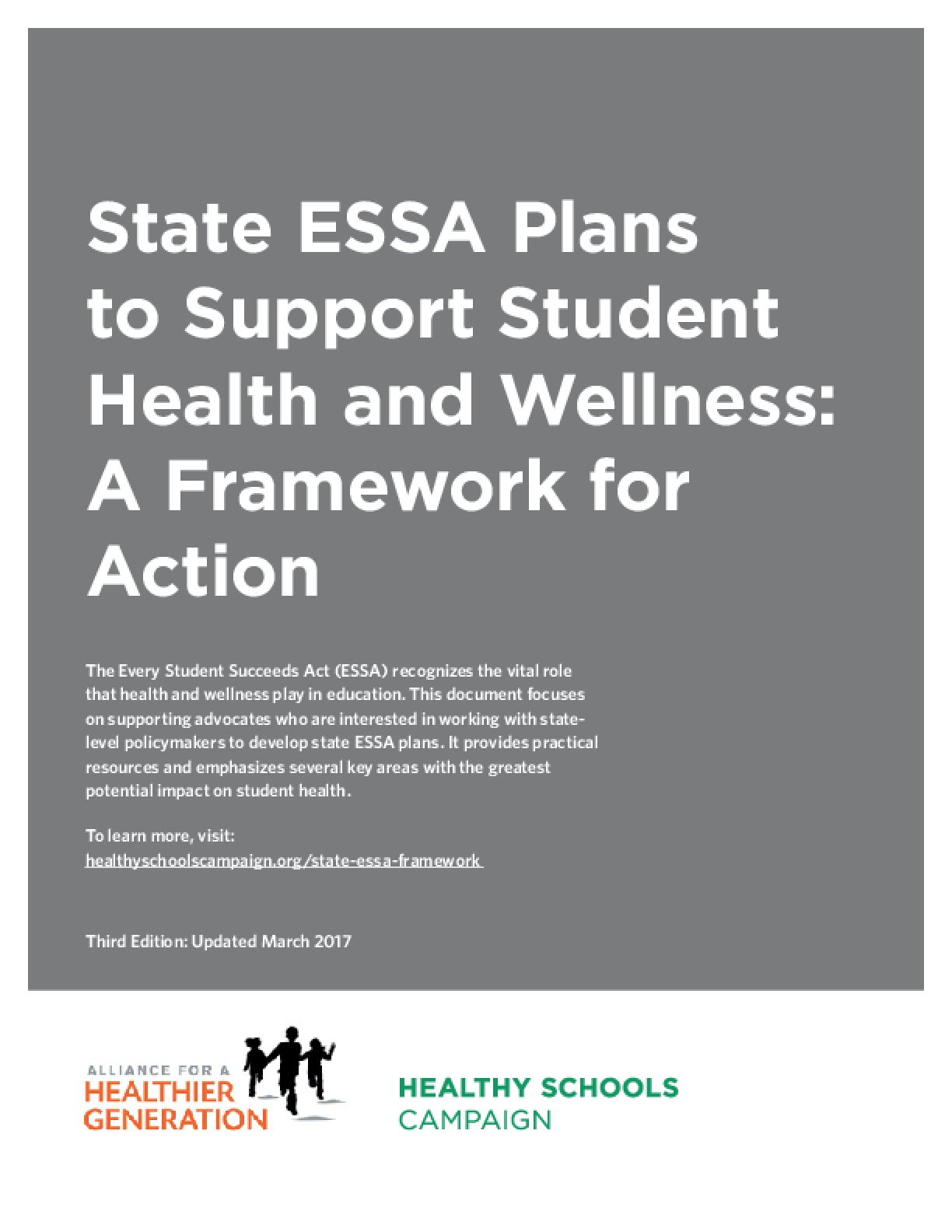 State ESSA Plans to Support Student Health and Wellness: A Framework for Action