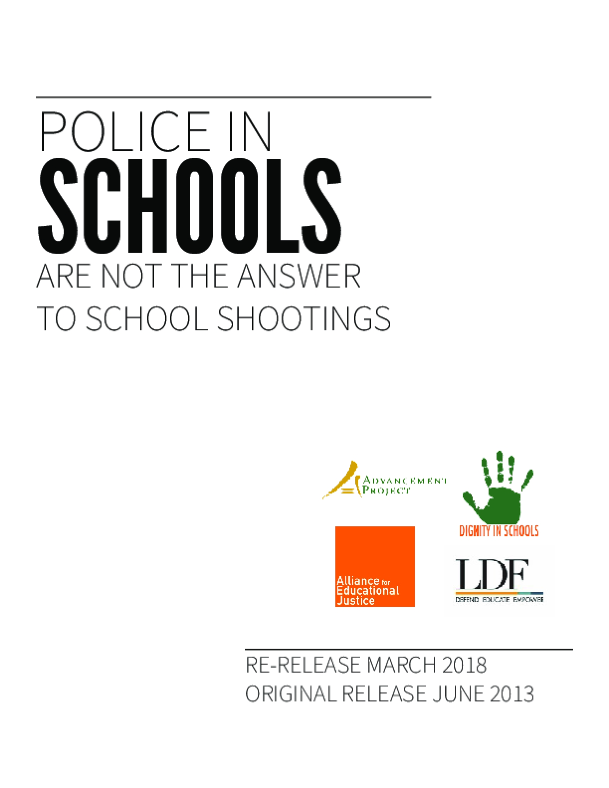 Police in Schools Are Not the Answer to School Shootings